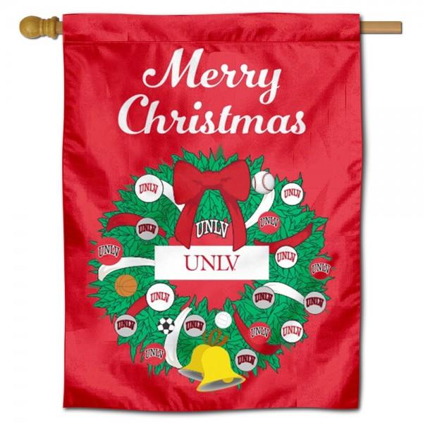 UNLV Christmas Holiday House Flag