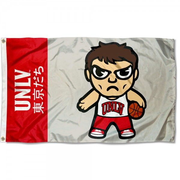 UNLV Tokyodachi Cartoon Mascot Flag
