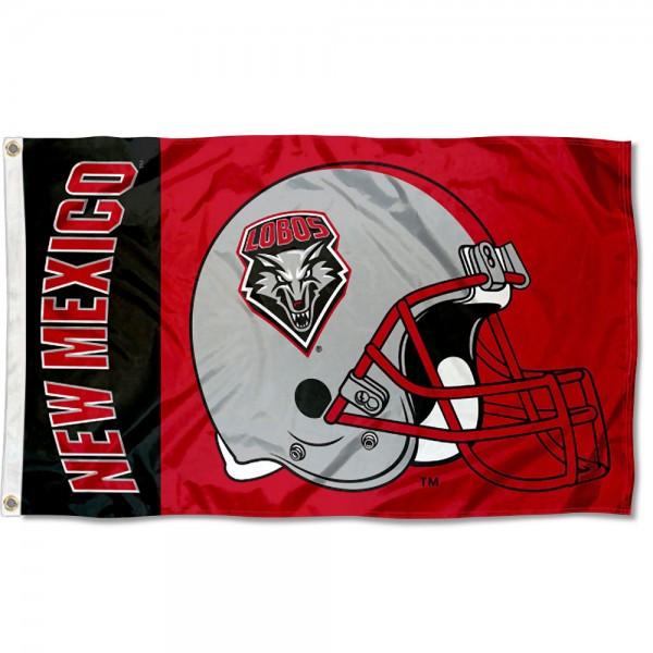 UNM Lobos Helmet Flag