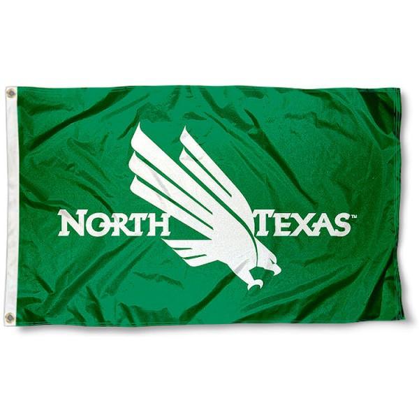 UNT Eagle Logo Flag