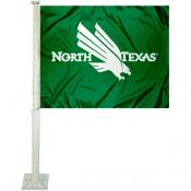 UNT Mean Green Car Flag
