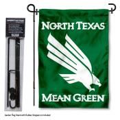 UNT Mean Green Garden Flag and Holder