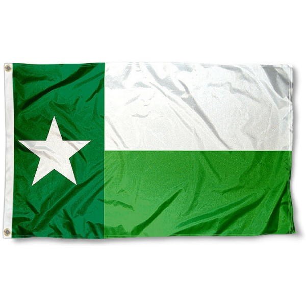 UNT Mean Green Texas State Flag
