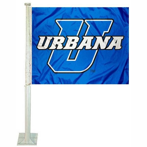 Urbana Blue Knights Car Flag