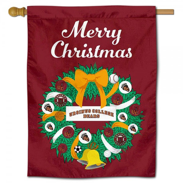 Ursinus Bears Christmas Holiday House Flag