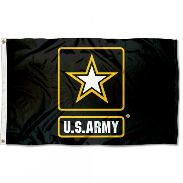 US Army Star Logo Square Flag