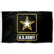 US Army Star Logo Square Flag
