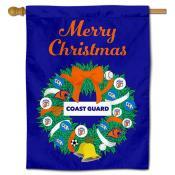 US Coast Guard Christmas Holiday House Flag