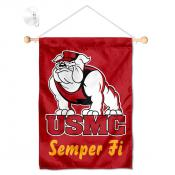US Marines Corps Window Hanging Banner with Suction Cup