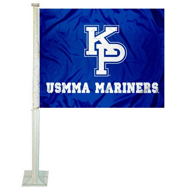 US Merchant Marine Mariners Logo Car Flag