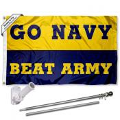 US Navy Beat Army Flag and Bracket Flagpole Kit