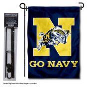 US Navy Garden Flag and Yard Pole Holder Set