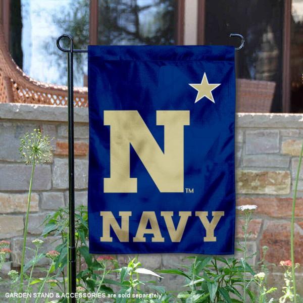 US Navy Midshipmen Double Sided Garden Flag