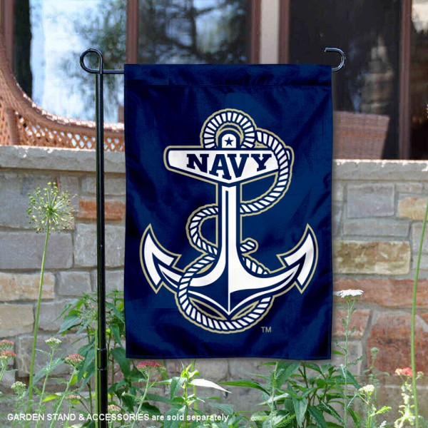 US Navy Midshipmen Double Sided Garden Flag