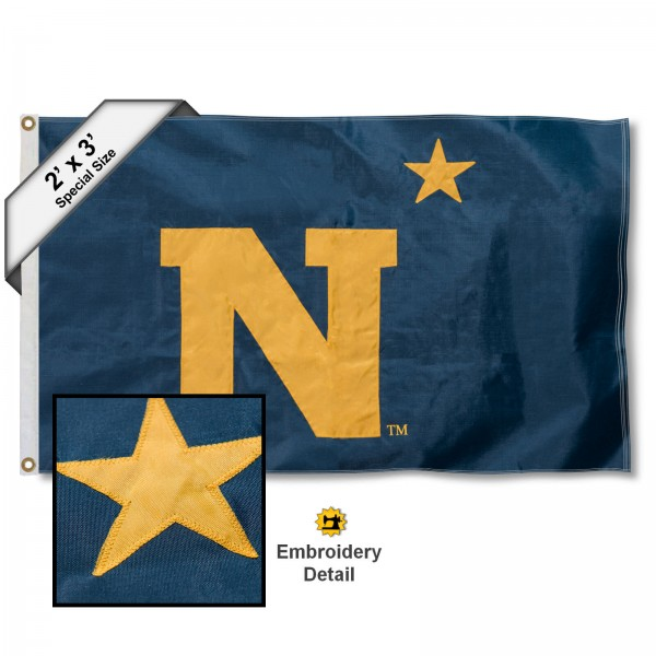US Navy Midshipmen Embroidered 2x3 Foot Flag