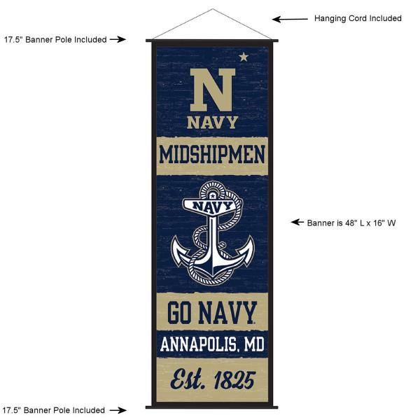 US Navy Midshipmen Wall Banner and Door Scroll