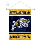 US Navy Midshipmen Window Hanging Banner with Suction Cup