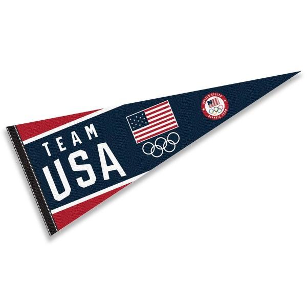 US Olympic Team USA Pennant Flag