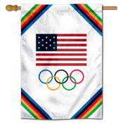 USA Olympics Logo Banner Flag