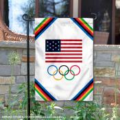USA Olympics Team Garden Flag