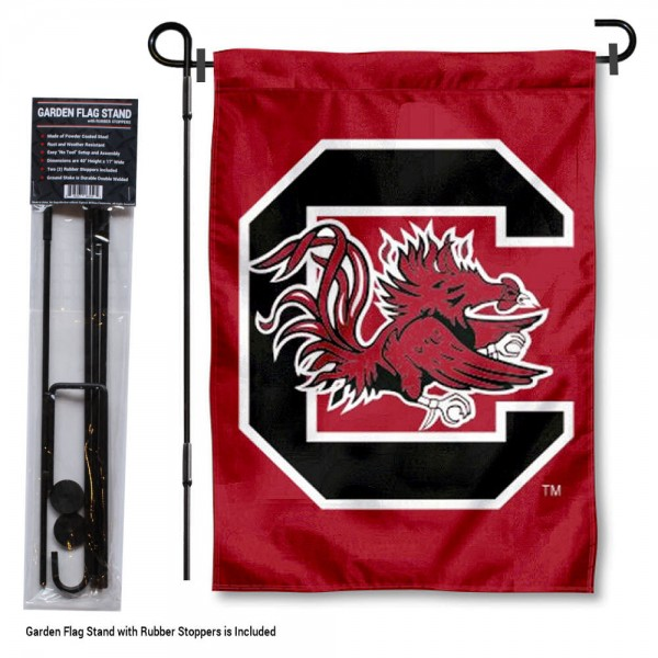 USC Gamecocks Garden Flag and Holder