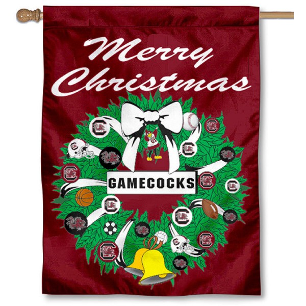 USC Gamecocks Holiday Flag