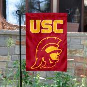 USC Trojan Head Logo Garden Flag