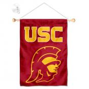 USC Trojan Head Window Hanging Banner with Suction Cup