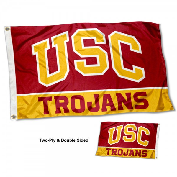 USC Trojans Double Sided 3x5 Feet Flag