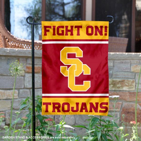 USC Trojans Fight On Garden Flag