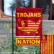 USC Trojans Nation Garden Flag