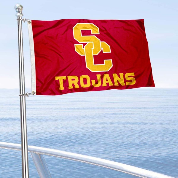 USC Trojans Nautical and Golf Cart Flag