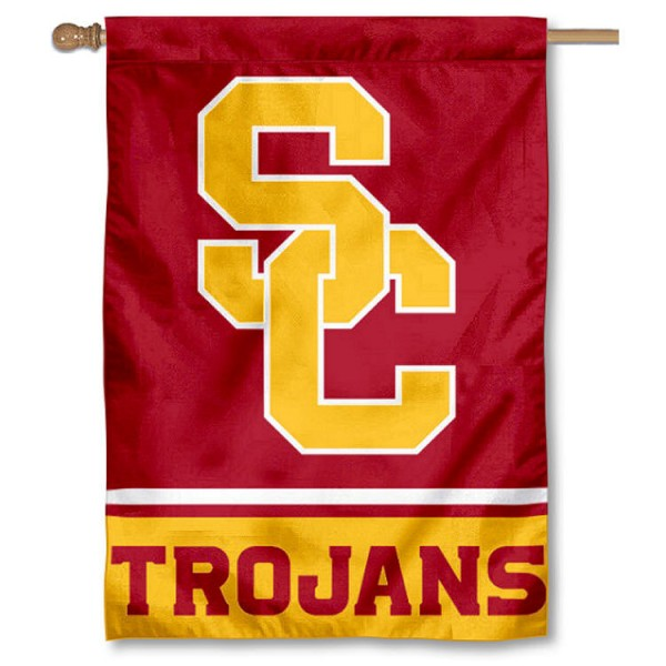 "USC Trojans ""SC"" Double Sided House Banner Flag"