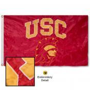 USC Trojans Trojan Appliqued Sewn Nylon Flag