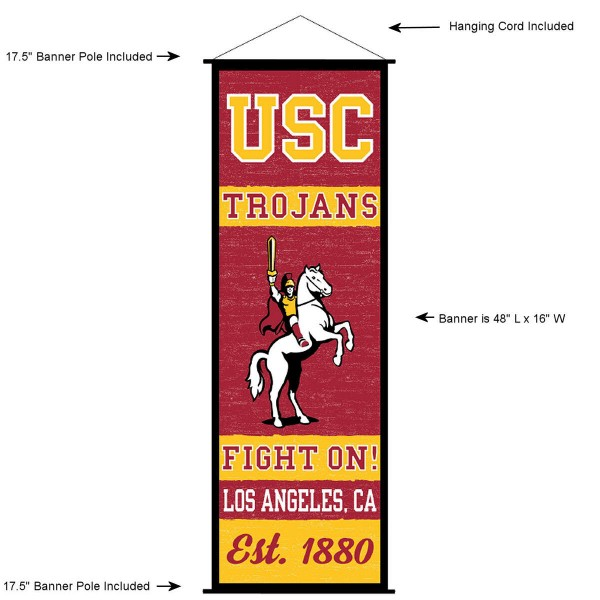 USC Trojans Wall Banner and Door Scroll