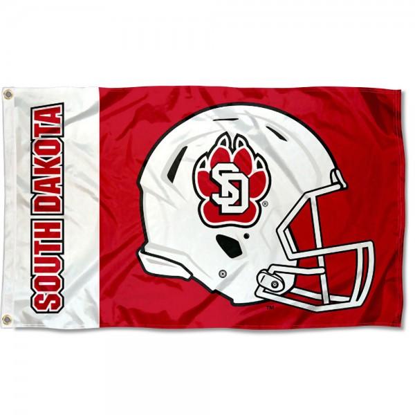 USD Coyotes Helmet Flag