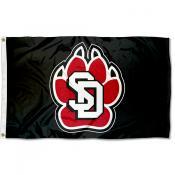 USD Coyotes Paw Logo Flag
