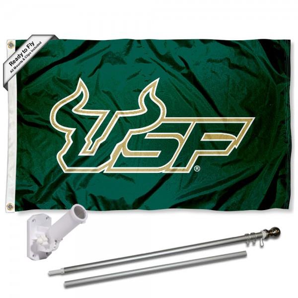 USF Bulls Flag and Bracket Flagpole Kit