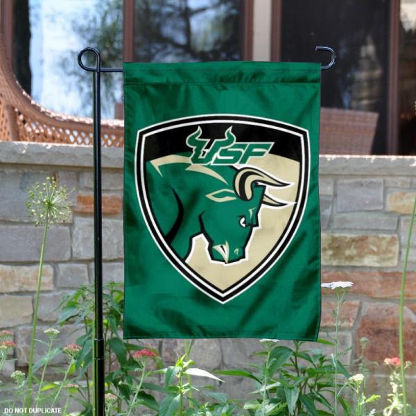 USF Bulls Shield Garden Flag