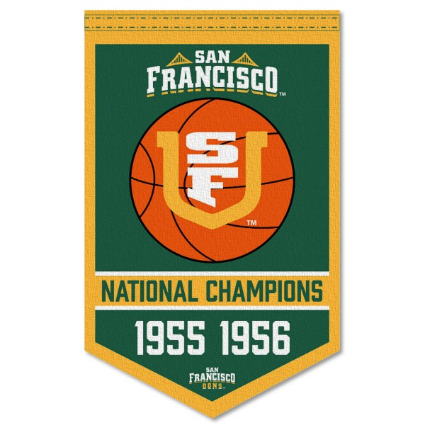 USF Dons College Basketball National Champions Banner