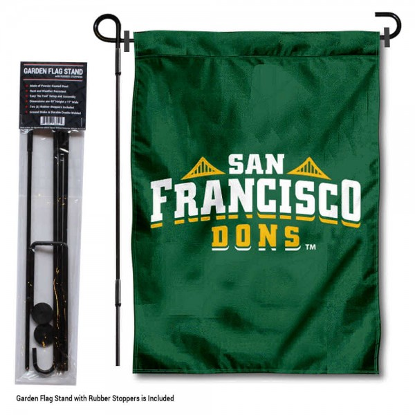 USF Dons Garden Flag and Holder
