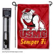 USMC Semper Fi Garden Flag and Holder