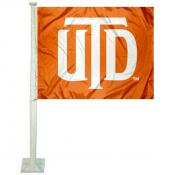 UT Dallas Comets Car Flag