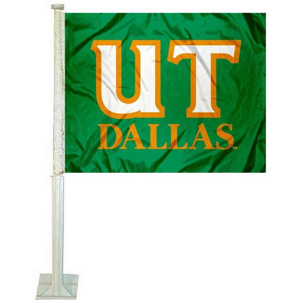 UT Dallas Comets Logo Car Flag