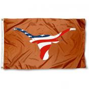 UT Longhorns USA Flag Waving Logo Flag