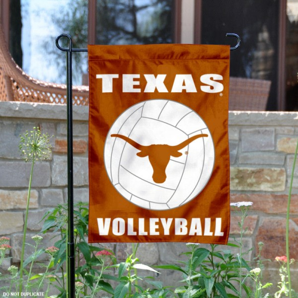 UT Longhorns Volleyball Garden Flag