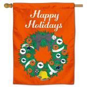 UT Rio Grande Valley Vaqueros Christmas Holiday House Flag