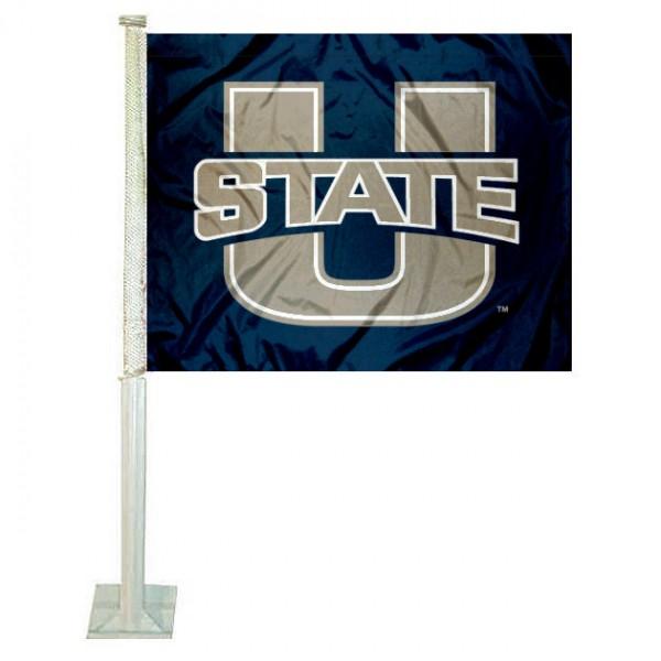 Utah State Aggies Logo Car Flag