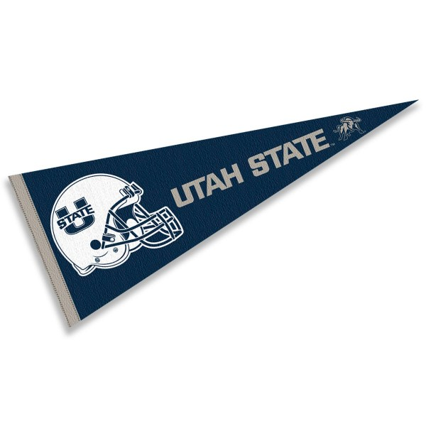 Utah State University Football Helmet Pennant