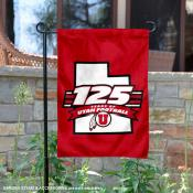 Utah Utes 125 Football Seasons Garden Flag